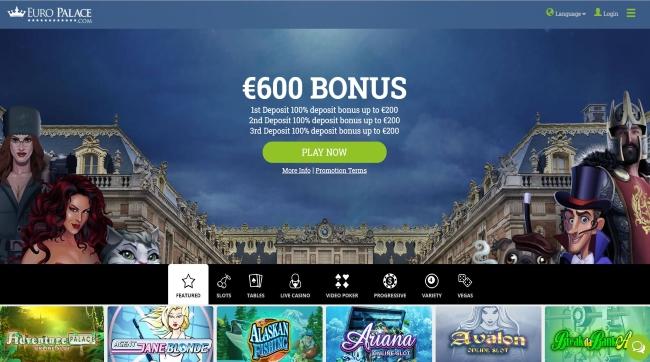 Europalace Casino Screenshot