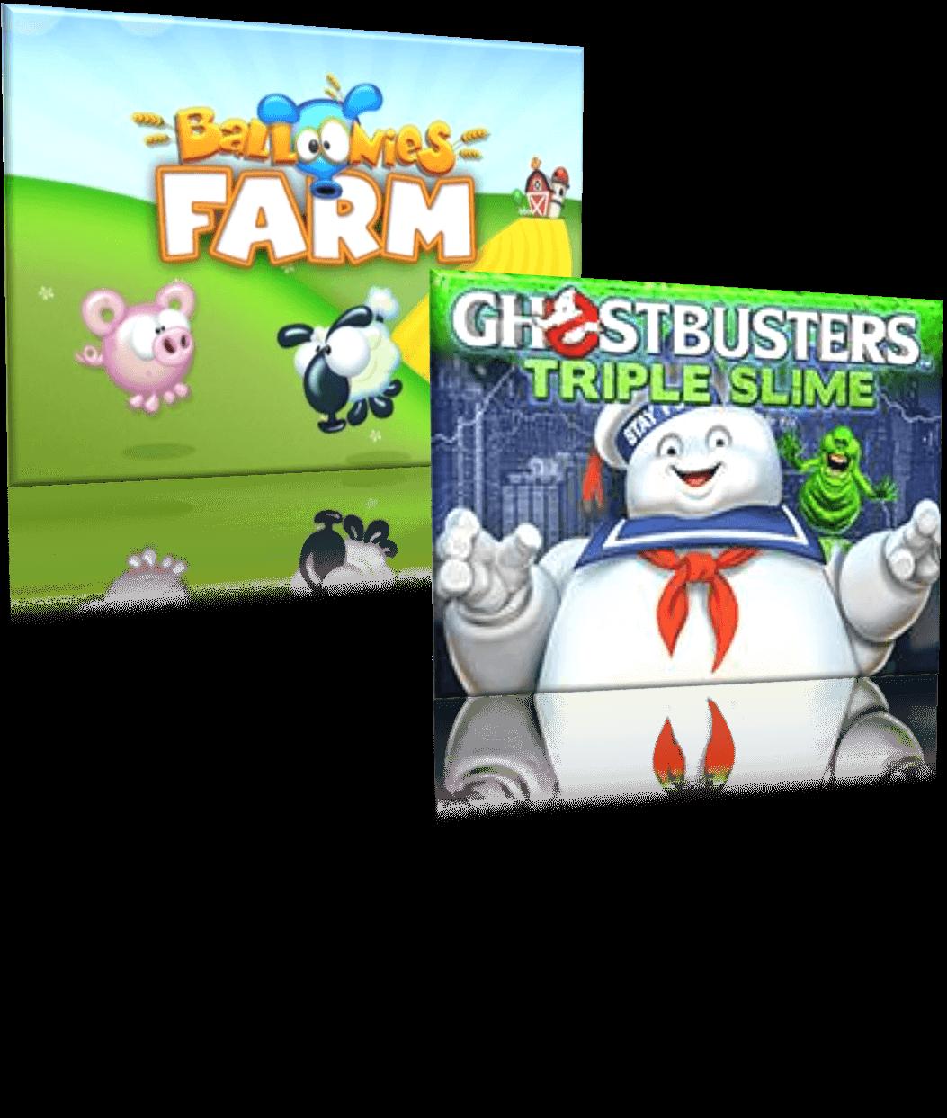Ghostbusters slots Balloonies Farm slots