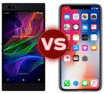 Razer phone versus the iPhone X