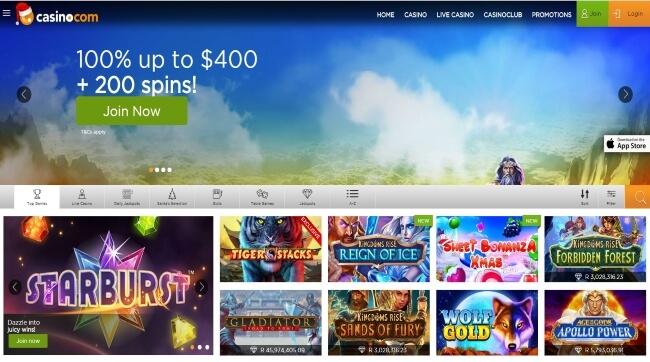 Casino.com Casino Screenshot