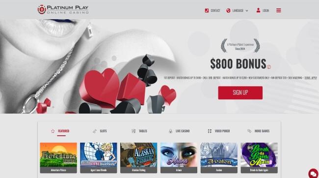 Platinum Play Casino Banner