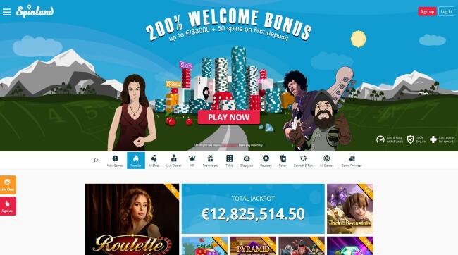 Spinland Casino Screenshot