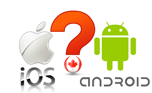 iOS vs Android Marketshare in Canada