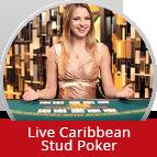 Bet on Live Caribbean Stud Poker