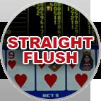 Straight Flush Video Poker Gameplay