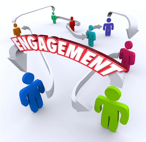 "Infographic with headline ""Engagement"""