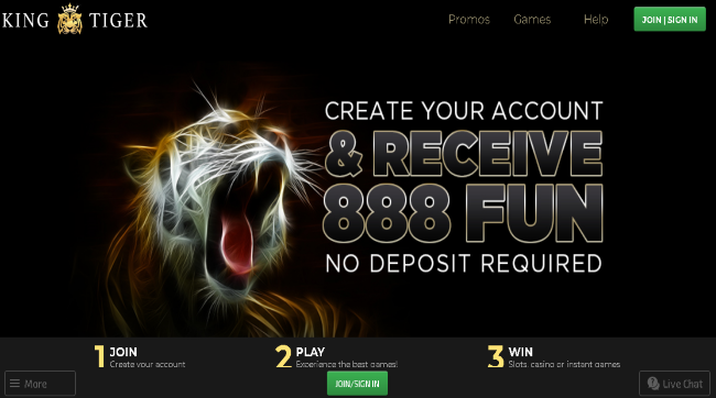 Play at king tiger casino