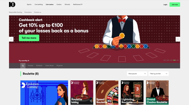 Bet at 10 Bet Live Casino