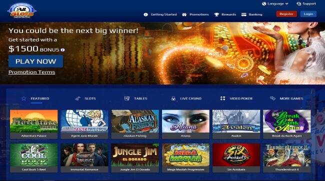 Play on All Slots Live Casino