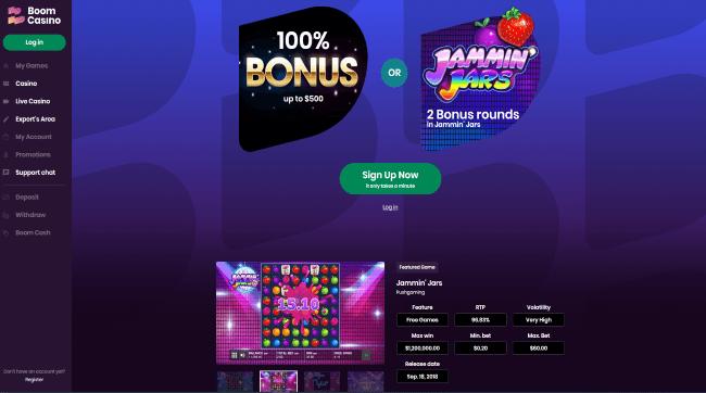 Play at Boom Casino