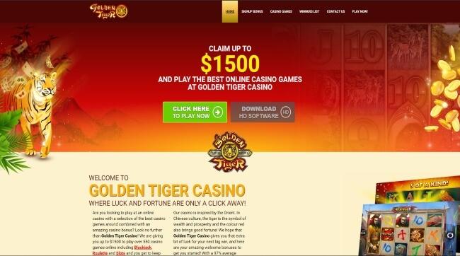 Play at Golden Tiger Casino