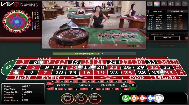 Bet on Live Dealer Roulette