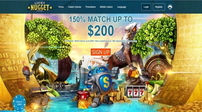 Play at Lucky Nugget Mobile Casino
