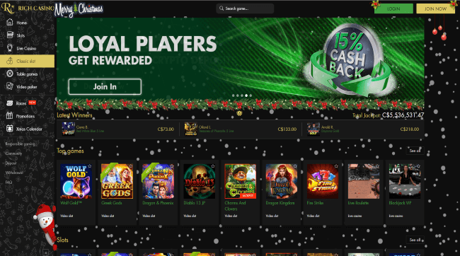 Play at Rich Casino Mobile Casino