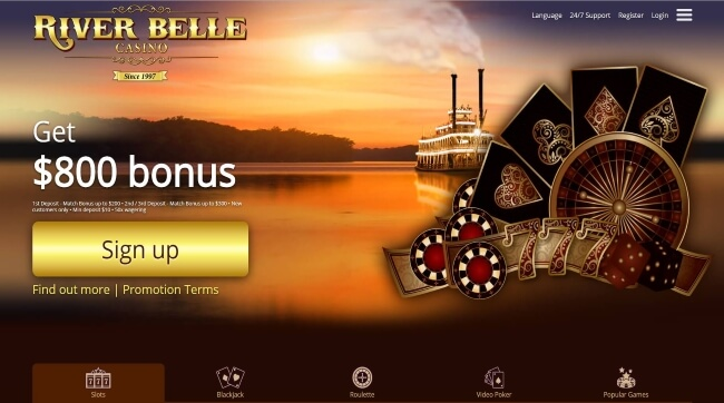 Play at RiverBelle Mobile Casino