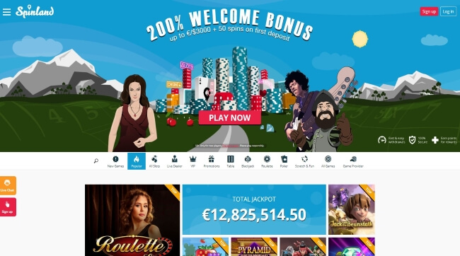 Play at Spinland Mobile Casino