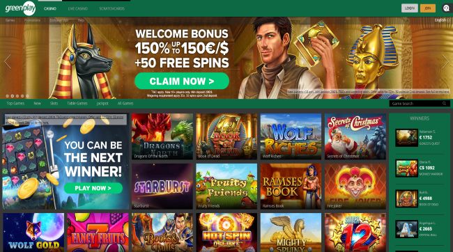 Green Play Casino Screenshot